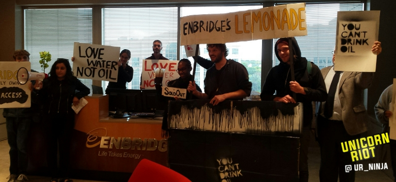 #noDAPL #noLine3 action at Enbridge, Inc. Edina location