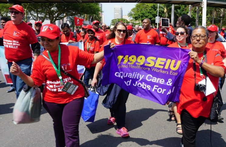 Street march of union members