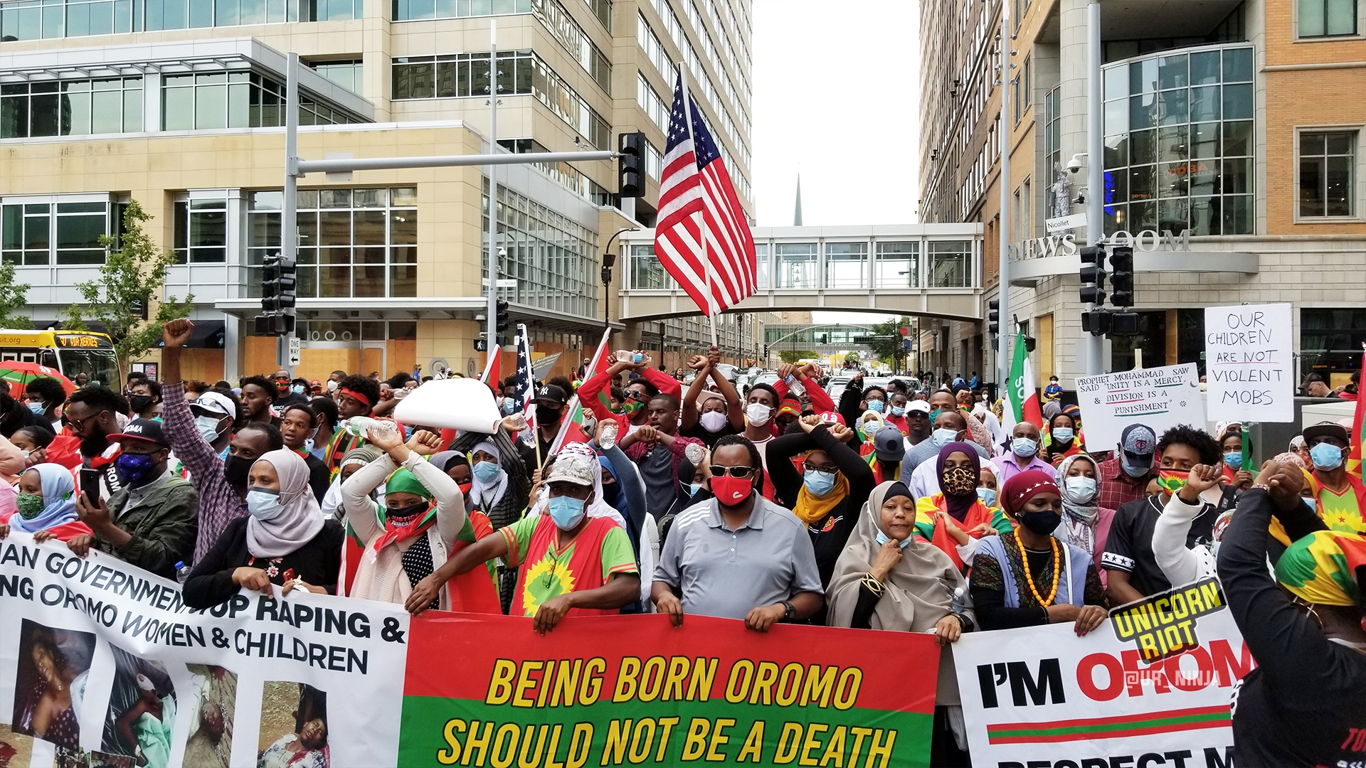 Hundreds march in Minneapolis for Oromos in Ethiopia